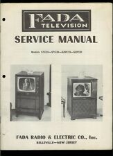 Rare Original Factory 1952 Tele King TVJ Series TV Television Service Manual