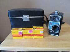 Vintage Kodak Electric 8 Automatic Camera w/Carry Case & Film~Early Movie Camera