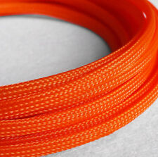 Braided Expandable Cable Loom Auto Harness Wire Sleeving Sheathing10mm ORANGE 5m