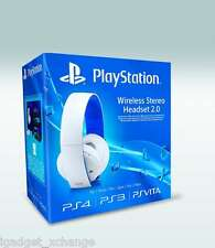 Official Sony PlayStation PS4 PS3 PS Vita PC Mac Wireless Stereo Headphone WHITE