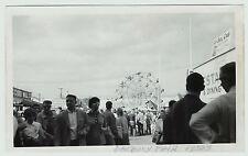 RARE - Photo - 1950s Danbury CT Fair - Connecticut - Ferris Sheel Ride etc