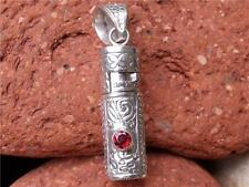 PRAYER/GHAU BOX PENDANT 925 SILVER GARNET SILVERANDSOUL HANDCRAFTED JEWELLERY