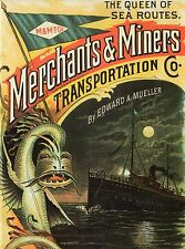 """""""Queen of Sea Routes - Merchants & Miners Transportation"""" -SSHSA sHiPs WORLDWIDE"""