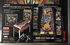 2 STERN FACTORY ORIGINAL NOS SPIDERMAN BLACK PINBALL FLYERS