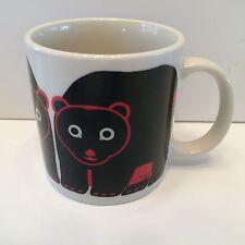 BLACK BEAR RED TAYLOR & NG VINTAGE 1983  MINIMALS COFFEE MUG