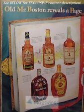 1942 RARE Esquire Advertisement DOUBLE PAGE AD MR BOSTON FINE WHISKIES