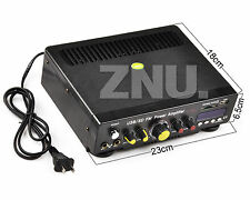 Power 12V/220V Car Home Audio Hi-Fi Stereo Amplifier Amp mp3 For iPod Motorcycle