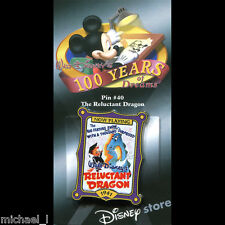 DISNEY STORE 100 YEARS OF DREAMS #40 THE RELUCTANT DRAGON MOVIE POSTER PIN *MOC*