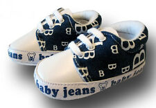 BOYS BABY SHOES TRAINERS DENIM PRAM NEWBORN TODDLER INFANT SIZE 6-12 MONTHS