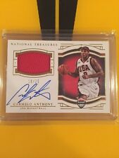 2015-16 National Treasures Carmelo Anthony USA Basketball Jersey Auto 18/25