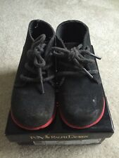 Ralph Lauren Polo Boys Carl Cove Slate Gray Suede/ Red Sole Chukka Boot/Shoes-11