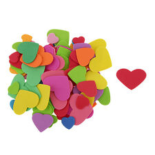 100x HEART Foam Stickers Child Embellishments for Card Making Scrapbooking