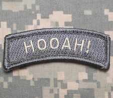 HOOAH! TAB TACTICAL US ARMY MORALE MILITARY BADGE INFIDEL ACU LIGHT VELCRO PATCH