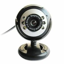 USB 30.0M 6 LED Webcam Camera Web Cam With Mic for Desktop PC Laptop  BG