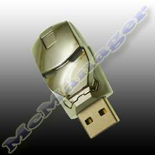 IRON MAN SILVER 8GB Flash / PEN DRIVE CHIAVETTA USB (non FAKE 32gb-64gb)