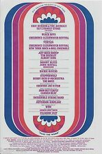 WHO Airplane SLY Creedence MOODY BLUES Fillmore East Concert Handbill 1968