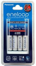 Panasonic ENELOOP Quick fast smart 2Hrs battery charger with 4 AA batteries