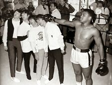 MUHAMMAD ALI WITH THE BEATLES 8X10 GLOSSY PHOTO PICTURE IMAGE #3