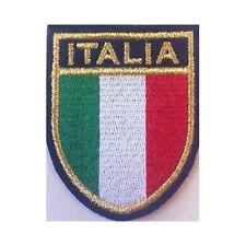 [Patch] ITALIA SCUDETTO cm 5,7 x 6,8 toppa ricamata ricamo termoadesiva -238