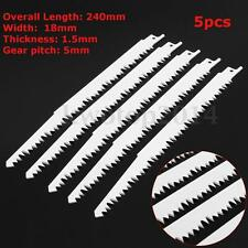 5pcs 240mm Reciprocating Wood Saw Blades Sabre High Carbon Steel For Makita