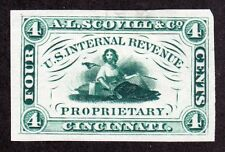 US RS220P3 A.L. Scovill & Co. Proof on India Paper Match & Medicine SCV $50