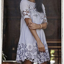 Nwt Anthropologie Lace Magnolia Swing Shift Party Dress Sz 0 XS Lavender