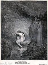 INFERNO: MIRRA, Madre di Adone. INCESTO. Gustave Doré.Dante.Divina Commedia.1880