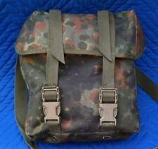 German Bundeswehr Surplus Item - Used 1996 Flecktarn Camo Military Combat Bag