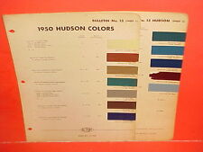 1950 HUDSON SUPER PACEMAKER COMMODORE CONVERTIBLE CLUB COUPE SEDAN PAINT CHIPS