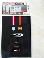 MAN. UTD v. ASTON VILLA 2010 CARLING LEAGUE CUP FINAL PROGRAMME & TICKET *VGC*