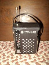 General Electric Old 10 Transistor Radio w/Case