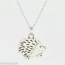 "Far Fetched Hedgehog NECKLACE Sterling Silver Pendant w/ 16"" Chain - Free Ship"