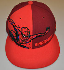 New Era Cap Hat Panel Pop Fitted Spiderman Super Hero 59FIFTY 8 Red Marvel