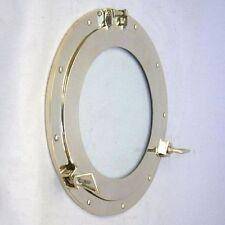"""14"""" Porthole Window Brass ~ Brass Porthole~ Ship Porthole ~Nautical Decor~ Cabin"""