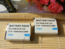 2X SLB-11A Battery For Samsung CL80 EX1 HZ25W ST1000 TL240 TL320 TL350 WB100