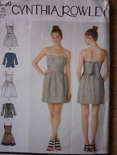 NEW SIMPLICITY PARTY PROM DRESS & JACKET SEWING DRESSMAKING PATTERN