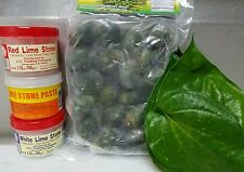 Full Package Chew (Limestone Paste, Young Betelnut, 15 Trau Leaves) US SELLER