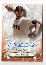 CHRIS HESTON  MLB 2016 TOPPS TIER ONE BREAKOUT AUTOGRAPHS #/299 (GIANTS)