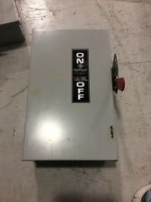 GE General Electric General Duty Safety Switch TG3222 60 Amp 240 Volt Fusible