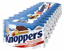 STORCK - KNOPPERS - 10 pcs - German Chocolate Wafer Snack 10 x 25g 0.88oz