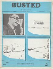 Busted - Ray Charles - 1962 Sheet Music