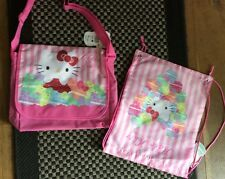 Bnwt bundle hello kitty sac messenger & sac de sport rose