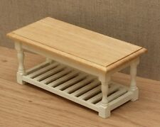 1:12 Dolls House Kitchen Table with rack – Choice of 15 colours