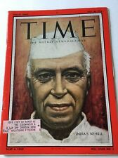 Vintage Time Magazine July 30, 1956 Jaraharial Nehru, India