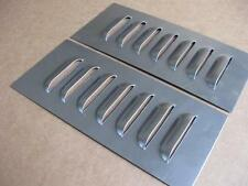 "3"" Pair Straight Aluminum Louvered Panels ,7 louvers ea  by RodLouvers"