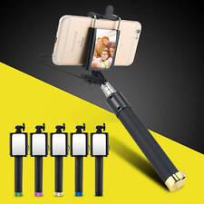 Mini Monopod Erweiterbar Selfie Stick Spiegel Selbstauslöser  Für iPhone Samsung