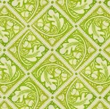 'BOHEMIA' ACORN TILES GREEN COTTON FABRIC - IN THE BEGINNING/JUDY PASCHKIS