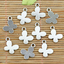 24pcs tibetan silver color simple butterfly design charms EF2295