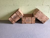 4 Vintage Wooden Cheese Crates (storage box wine rustic shabby chic display)