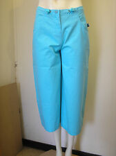 Lovely Turquoise Cropped Trousers Capri Pants by Flying Dodo Size Small - BNWT!!